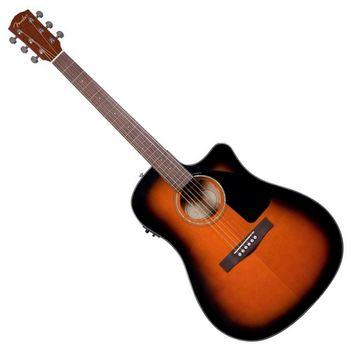 【FENDER】電民謠吉他/電木吉他內建FISHMAN調音式EQ 配硬盒-漸層色-公司貨 (CD-60CE SB)