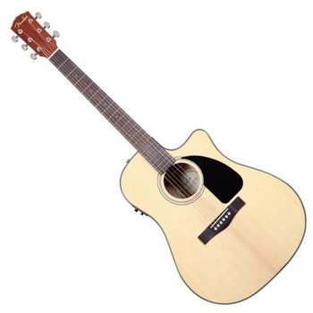 【FENDER】電民謠吉他/電木吉他內建FISHMAN調音式EQ 配硬盒-原木色-公司貨 (CD-60CE)