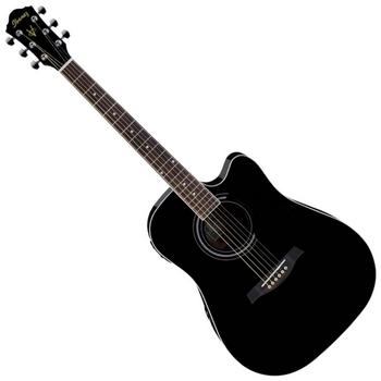 【IBANEZ】 電民謠吉他/電木吉他世界大廠的精緻工藝-黑色-公司貨 (V72ECE BK)