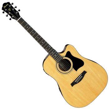 【IBANEZ】 電民謠吉他/電木吉他世界大廠的精緻工藝-原木色-公司貨 (V72ECE NT)