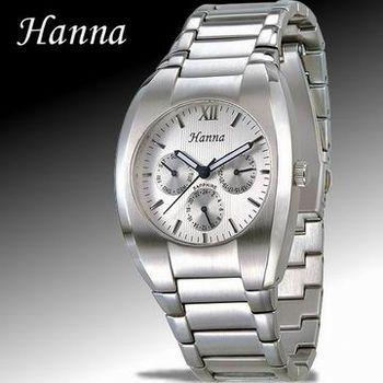 Hanna 品味三眼石英男錶