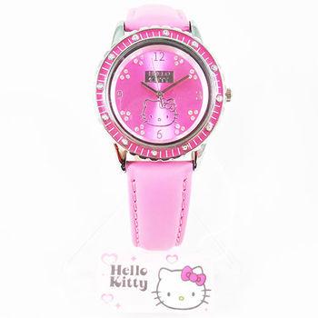 日本Hello Kitty可愛造型手錶 桃紅色