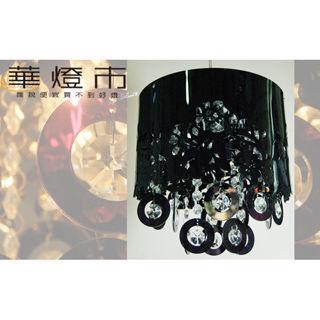 【華燈市】黑色山茶花水晶吊燈(現代主義風)