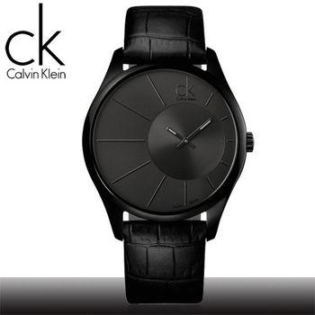 【瑞士 CK手錶 Calvin Klein】光芒系列-氣質皮革男錶(K0S21402)