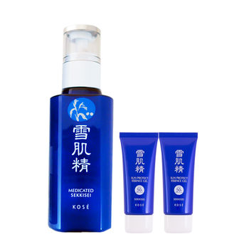 KOSE 高絲 雪肌精乳液140ml+雪肌精極效輕透防曬凝膠SPF50+/PA++++(35mlx2)