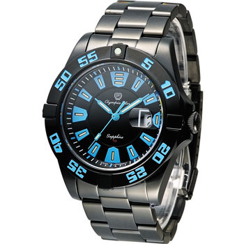 Olympia Star 夜鷹系列 T25 運動型時尚腕錶 98019TGB 藍x黑