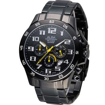 雅柏 ALBA 潮流型男時尚計時腕錶 VD53-X174SD