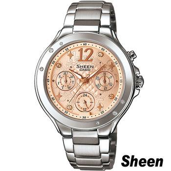 SHEEN 繽紛之美時尚腕錶 SHE-3032D-9A 橘