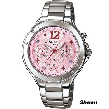 SHEEN 繽紛之美時尚腕錶 SHE-3032D-4A 粉