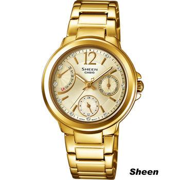 Sheen 簡約俐落輕孰時尚腕錶 SHE-3804GD-9A 金色