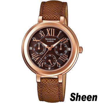 Sheen 金色年華 時尚腕錶 SHE-3034GL-5A 棕色