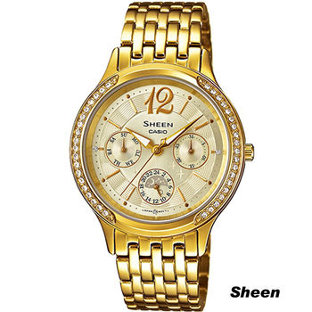 Sheen 金色優雅時尚腕錶 SHE-3030BGD-9A 金色