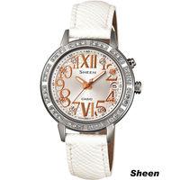 Sheen 璀璨華麗 腕錶 SHE ^#45 4031L ^#45 7A 白