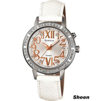 Sheen 璀璨華麗時尚腕錶 SHE-4031L-7A 白