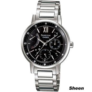 SHEEN 羅馬時空 經典腕錶 SHE-3028D-1A 黑