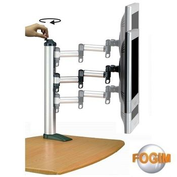 FOGIM 夾桌旋轉式液晶螢幕支架(單螢幕)-TKLA-1022-SM