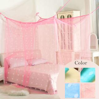 【Casa Aroma】傳統式 單人針織蚊帳/四角蚊帳/無側門(3尺)