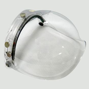 買一送一!!! 抗UV耐磨泡泡安全帽鏡面甲式(透明白)-(台灣MIT)