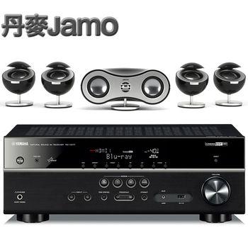《丹麥JAMO》家庭劇院環繞喇叭系統 360 S35 + YAMAHA環繞擴大機 RX-V477