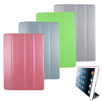 L71蠶絲紋四折 iPad Air(iPad5)平板皮套