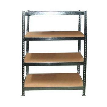 台灣製 組合式防潮鍍鋅錏板 L角鋼架 置物架-四層板(122X61.5X61)