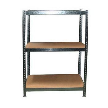 台灣製 組合式防潮鍍鋅錏板 L角鋼架 置物架-三層板(122X61.5X61)