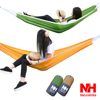Naturehike 戶外降落傘布輕量單人吊床(橙色)