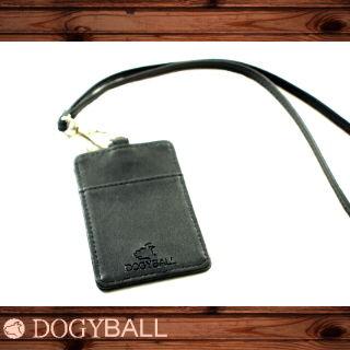 【Dogyball】品牌皮飾識別牌 可拆式卡片項套 黑色