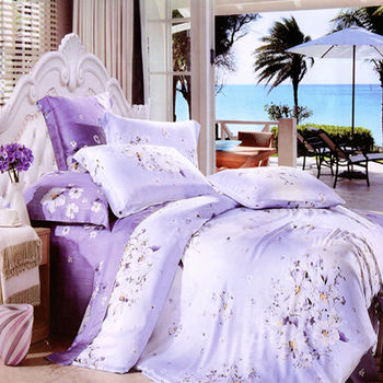 【幸運草】愛如潮水 嫩柔天絲加大四件式涼被床包組