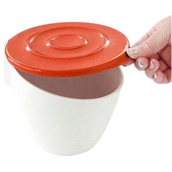 日本製造HACHIMAN流理台抗菌吸盤收納筒(紅色)