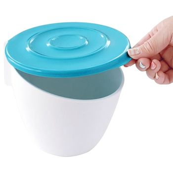 日本製造HACHIMAN流理台抗菌吸盤收納筒(藍色)