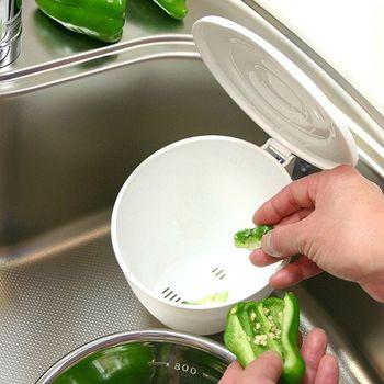 日本製造HACHIMAN流理台抗菌吸盤收納筒(白色)
