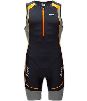 【ZOOT】 二級專業型肌能連身三鐵衣(男-黑橘) Z1306032