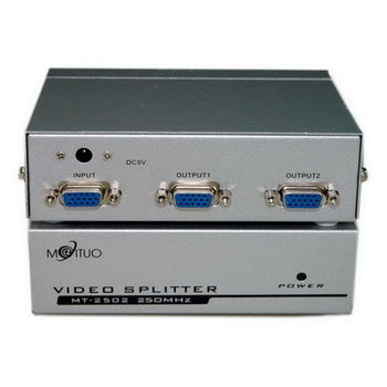 【FU】一進二出 VGA螢幕分配器-250MHz/鐵製/1入(DS0013)
