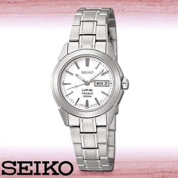 【SEIKO 精工】鈦金屬超輕時尚淑女腕錶(SXA111P1)