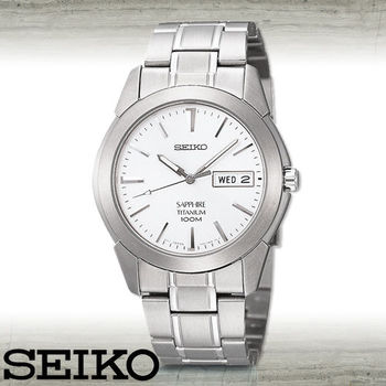 【SEIKO 精工】鈦金屬時尚紳士腕錶(SGG727P1)