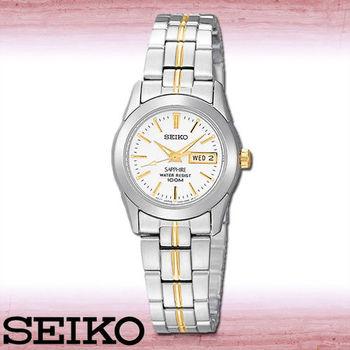 【SEIKO 精工】簡潔風-藍寶石水晶女錶(SXA103P1)