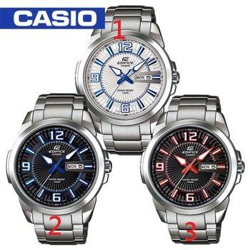 【CASIO 卡西歐 EDIFICE 系列】日系-簡潔俐落指針型腕錶(EFR-103D)