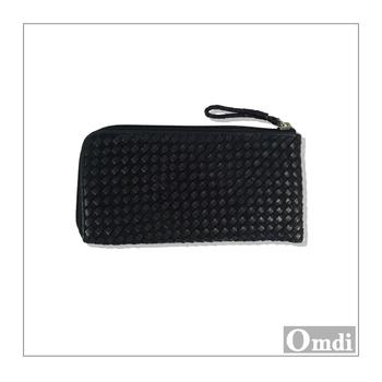 【歐帝兒 OMDI】手工真皮包 編織方型長夾 (4色)