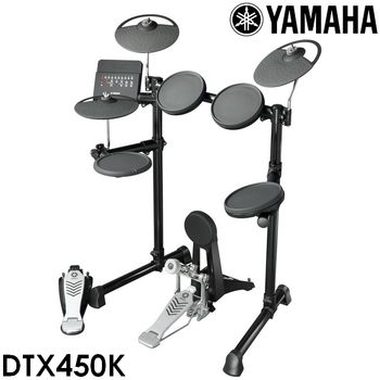 『YAMAHA 山葉』標準款電子鼓組/含鼓椅、鼓棒、耳機-公司貨保固 (DTX450)