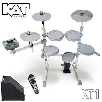 『KAT』美國品牌標準規格電子鼓組+30W專用音箱/含鼓椅、鼓棒、耳機 (KT-1)