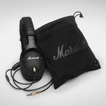 『Marshall』耳罩式監聽耳機/線控耳機/手機可用-黑色-公司貨保固 (Monitor Black)