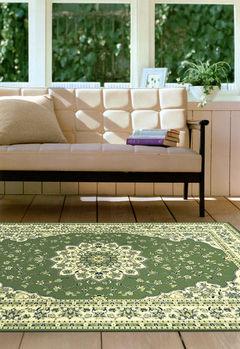 【范登伯格】奧瓦柔亮進口絲質感地毯-(綠)-100x140