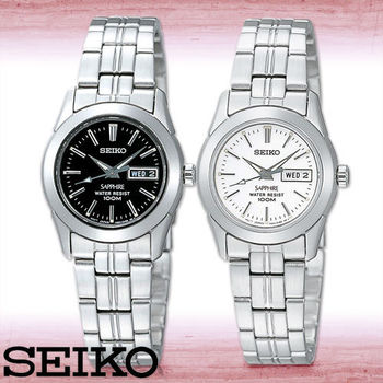 【SEIKO 精工】經典款-藍寶石水晶_100米防水_超薄女錶(SXA097P1-SXA099P1)