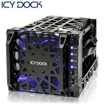 ICY DOCK 3.5吋SATA 四轉三 熱插拔酷冷硬碟抽取盒-MB074SP-1B