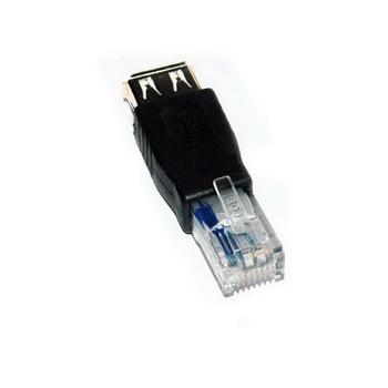 【FU】USB母轉RG45公 網路線轉接頭(SR1018)