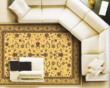 【范登伯格】紅寶石花朵紛飛圖藤點綴高貴質感輕柔進口絲質地毯-(米)-140x190cm