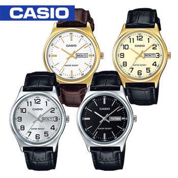 【CASIO 卡西歐】日系-紳士時尚指針型男錶(MTP-V003L_MTP-V003GL)