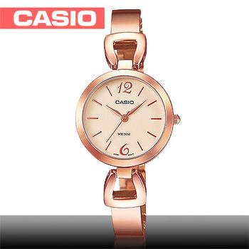 【CASIO 卡西歐】日系玫瑰金系列-小徑面造型女錶(LTP-E402PG)