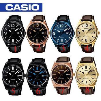 【CASIO 卡西歐】送禮首選- 大錶面紳士皮革型男錶(MTP-1342L / MTP-1343L)